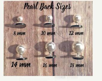 SUPER SALE!! 18MM Pearl earring backs, pearl earring backs,acrylic earring blanks