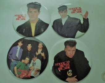 New Kids on the Block Original Jumbo 6 Inch Pinback Buttons