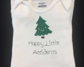 Bob Ross : Happy Little Accidents infant onesie