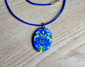Hand made polymer clay pendant