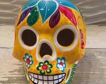 Handpainted Sugar Skull / Day of the Dead Skull / Sugar Skull / Dia de Muertos / Mexican Sugar Skull
