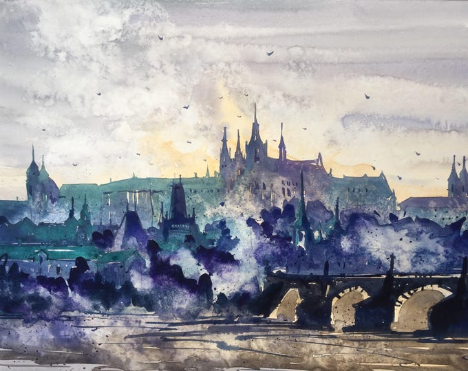 Misty Prague in watercolor
