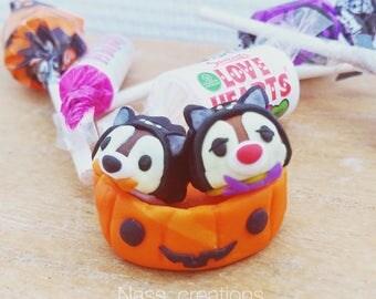 Tsum tsum creation handmade Tic and Tac Halloween Japan in a pumpkin