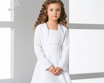 Jacket fleece long sleeve for girls for First Communion or Flower girls