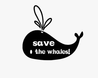 Save the Whales // Vinyl Decal
