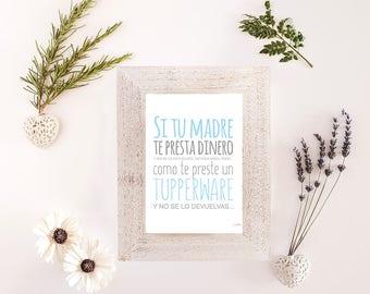 """Foil print """"Tupperware"""""""