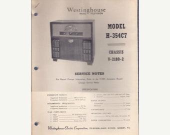 S Tech-Lit Westinghouse Radio Service Manual - H-354C7