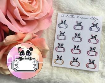 Iris-Panda Stickers Cinema Ticket