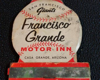 San Francisco Giants matchbook