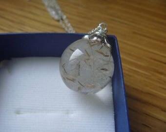 Dandelion glass bubble Necklace: make a wish!