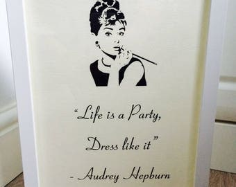 Audrey Hepburn Fashion Inspirational Life Quote Print Picture Poster Unframed Art Home Decor Birthday Gift