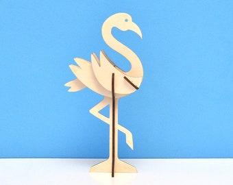 Wooden Flamingo