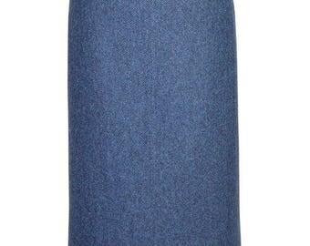 """31"""" Skirt in Lorne-Blue Tweed"""
