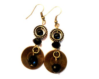 circus bronze dangle earrings