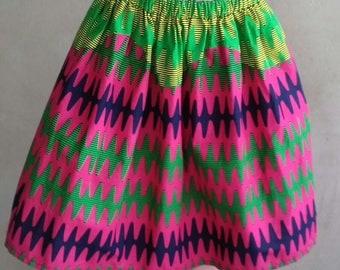 Women's Ankara multi colour  knee length skirt