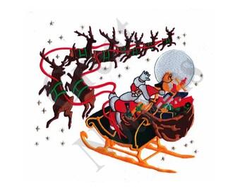 Christmas Sleigh - Machine Embroidery Design