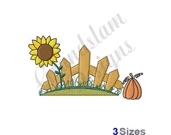 Fall Scene - Machine Embroidery Design