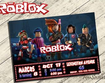 roblox invitation,roblox birthday invitation,roblox birthday party,roblox party,roblox download,roblox printable,roblox,art print roblox