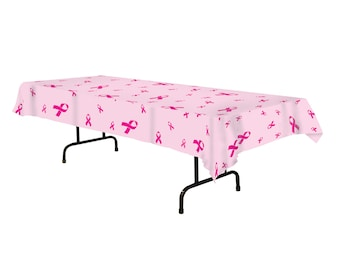 Breast Cancer Awareness Tablecover/ Breast Cancer Awareness Decor/ Breast Cancer Awareness