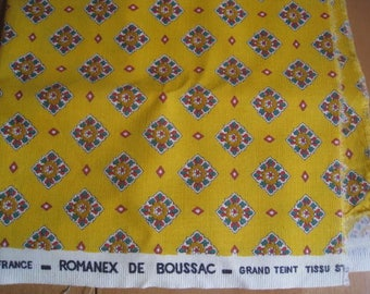 Fabrics Provence yellow 80 X 80 cm french fabric