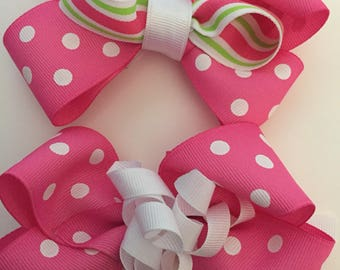 Pink Big Girl bows