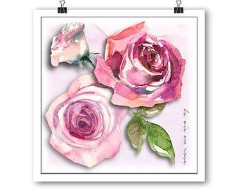 La Vie En Rose unframed print