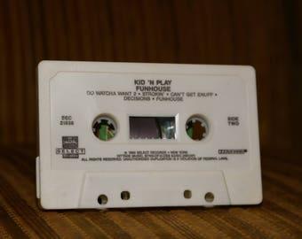 Kid N Play Funhouse Cassette Tape Music Vintage 1990 Old School Rap Music Christopher Reid Christopher Martin