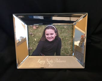 Personalized Etched 5x7 Mirror Frame