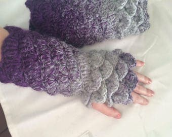 Dragon Scale Fingerless Gloves/arm warmers
