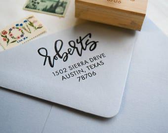 Custom Address Stamp, RSVP Stamp, Return Address Stamp, Wedding Stamp, Personalized Gift