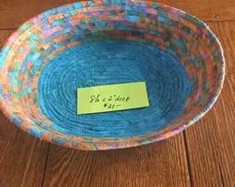 multicolored 9 inch bowl