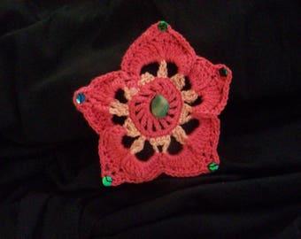 Star flower hair clip