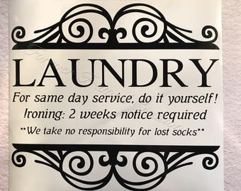 Laundry Decal - Large