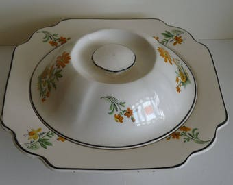 Adams Latham Ware serving dish and lid
