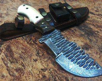 Handmade Damascus Forged Knife