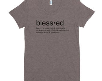 Blessed Bible Definition Women's Crew Neck T-shirt