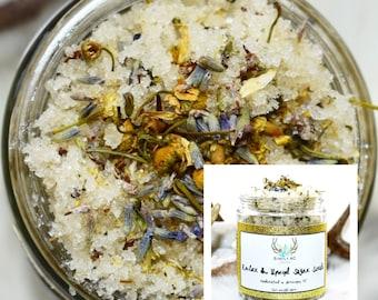 Relax & Unwind Sugar Scrub - Body Scrub - Lavender Chamomile Body Scrub - Lavender Sugar Scrub - Chamomile Sugar Scrub - Sugar Scrubs