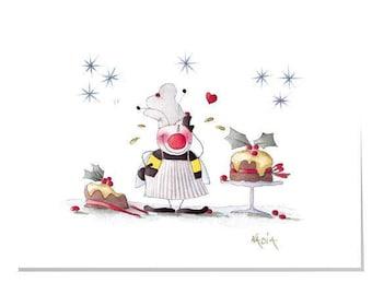 Happy Garden X1-Christmas bake off Christmas Card Large