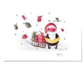 Happy Garden X5-Ho Ho Ho!! Christmas Card (Large)