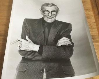 "Press Photo: George Burns 8""x 10"" (#3 sport coat )"