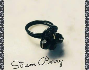 Stylish black ring