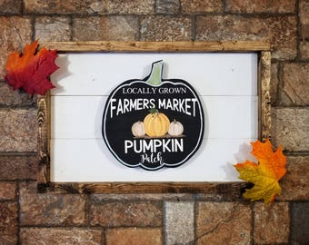 Pumpkin Patch Sign, Pumpkin Sign, Farmers Market Sign, Pumpkin Decor, Farmhouse Sign, Rustic Farmhouse Sign, Fall Decor, Fall Signs