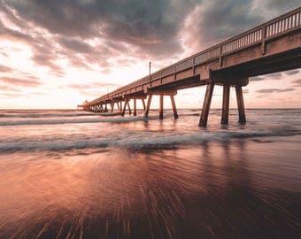 Florida Photography Prints / Deerfield Beach Pier / Florida Sunrise / Florida Photography / Florida Print / Prints Wall Art