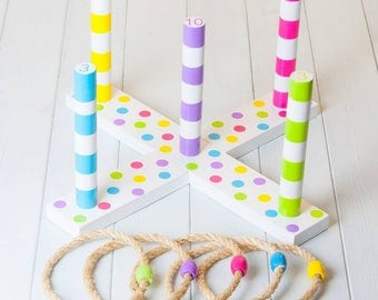 Childrens Quoits Throwing Rings Game