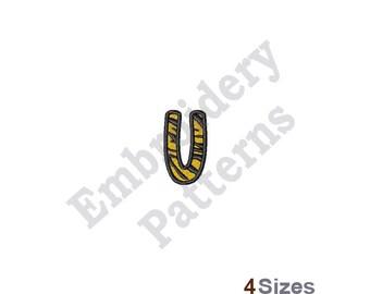 Tiger Letter U - Machine Embroidery Design