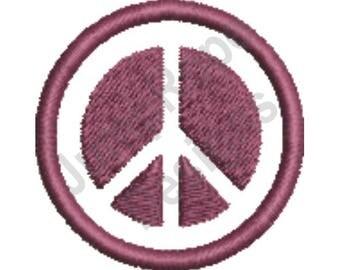 Peace Sign - Machine Embroidery Design