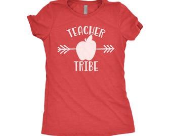 Teacher Tribe Shirt, Back To School Shirt, Teacher Shirts, First Day Of School, Teacher Gifts, Next Level Apparel Tri-Blend Shirt