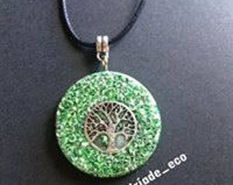 Driade eco energy pendant orgonita with Shunguite.