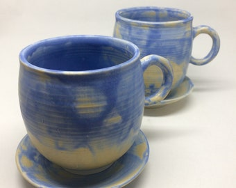 Royal Blue Coffee Cup Group,nique,handmade,ceramic ,pottery, coffee, tea cup, gift, housewarming , kitchen, dining