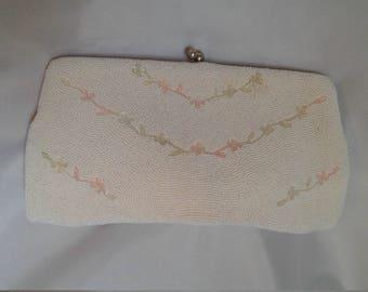 Vintage bead evening bag    50's bead evening bag